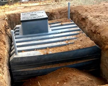 Бесшовный пластиковый погреб