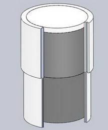 схема утепления колодца пенопластом