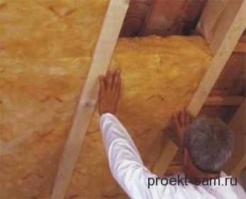 утепление крыши частного жилого дома
