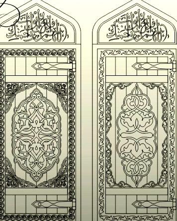 узор резные двери