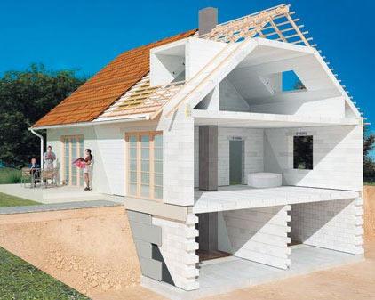 проект дома в разрезе