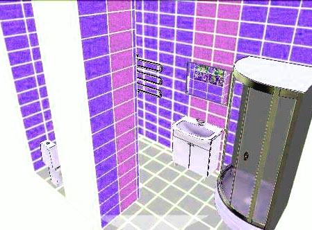 3d планировка ванная