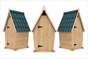 дача деревянный туалет