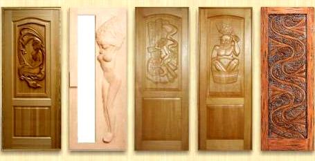 резные двери из дерева