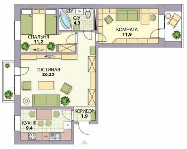 перепланировка трехкомнатной квартиры со сносом стен