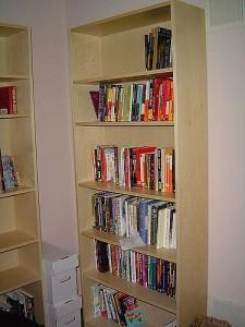 высокий книжный шкаф
