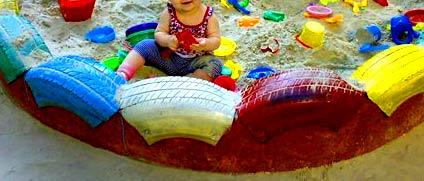 песочница с волнами