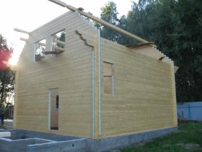 строительство дачного дома из бруса