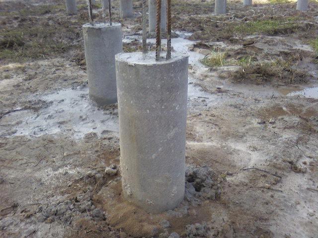 отлитые столбы