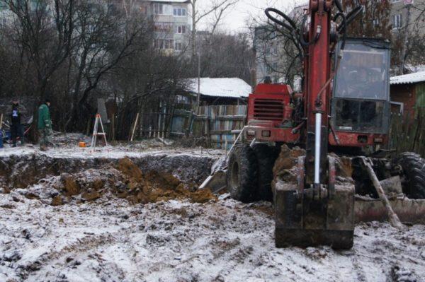 земляные работы зимой