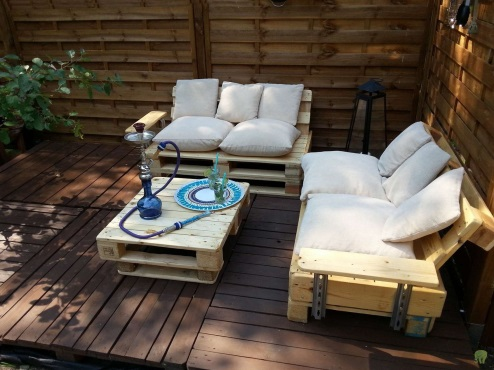 Садовая мебель из поддонов – 55 фото необычных идей для вашего дома