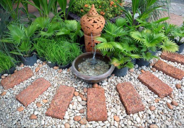 декоративный вариант из керамики