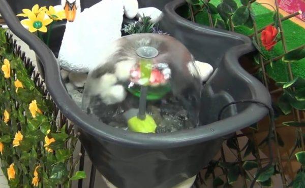 фонтан запущен
