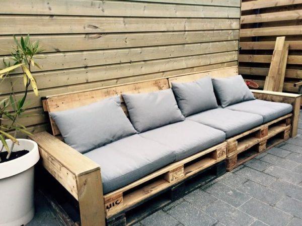 диван из поддона