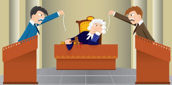 спор в суде
