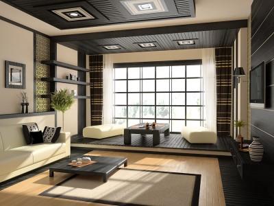внутренний дизайн дома в японском стиле