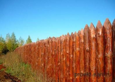 забор из кольев
