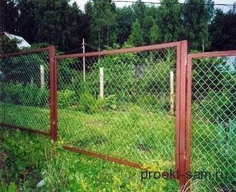 недорогой забор из сетки