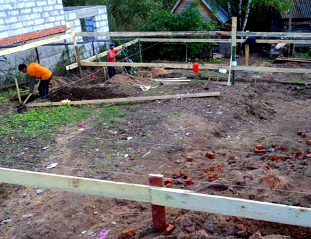 фундамент земляные работы