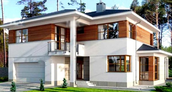 вариант покраски здания