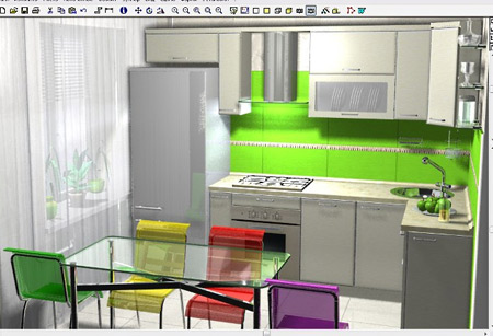дизайн зонирование кухни