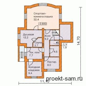 зонирование дома цокольный этаж